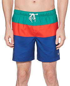 Men's Colorblocked Swim Trunks