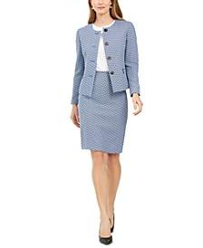 Chevron Tweed Skirt Suit