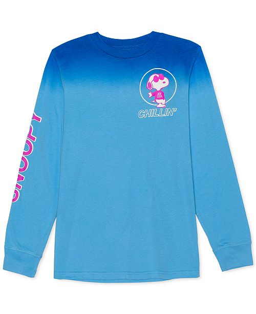 Peanuts Big Boys Snoopy Chillin' Ombré T-Shirt