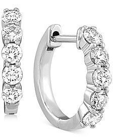 Lab Created Diamond Small Huggie Hoop Earrings (5/8 ct. t.w.) in Sterling Silver, .59""