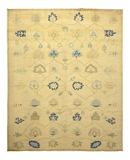 """Timeless Rug Designs One of a Kind OOAK1004 Flax 9'5"""" x 11'9"""" Area Rug"""