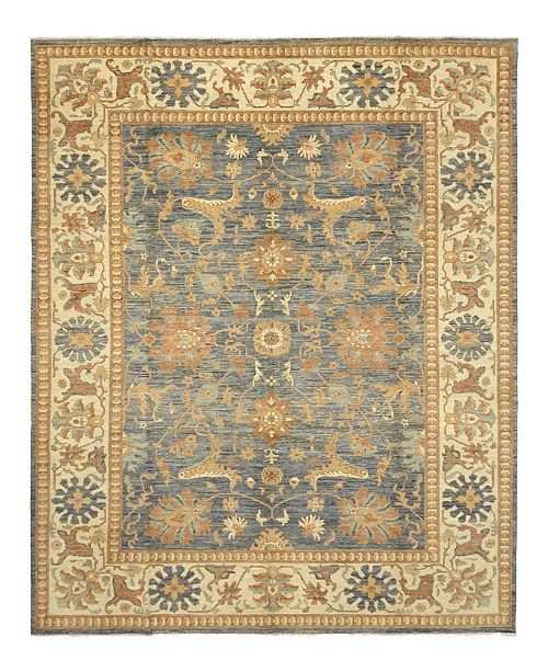 """Timeless Rug Designs CLOSEOUT! One of a Kind OOAK1023 Blue 9'3"""" x 12'1"""" Area Rug"""
