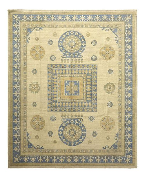 """Timeless Rug Designs CLOSEOUT! One of a Kind OOAK1081 Flax 9'2"""" x 11'9"""" Area Rug"""