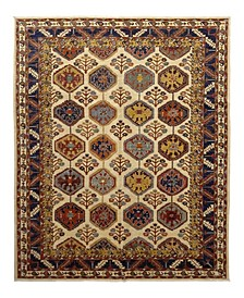 """CLOSEOUT! One of a Kind OOAK1098 Ivory 9' x 11'10"""" Area Rug"""