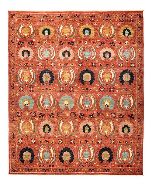"""Timeless Rug Designs CLOSEOUT! One of a Kind OOAK1270 Tan 8'2"""" x 10'2"""" Area Rug"""