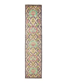 """CLOSEOUT! One of a Kind OOAK1333 Mauve 3' x 13'6"""" Runner Rug"""