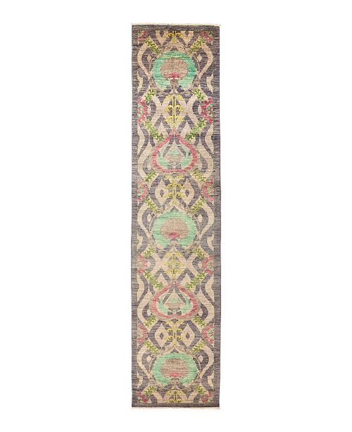 """Nourison CLOSEOUT! Timeless Rug Designs One of a Kind OOAK1333 Mauve 3' x 13'6"""" Runner Rug"""