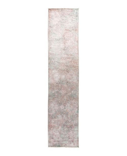 "Nourison CLOSEOUT! Timeless Rug Designs One of a Kind OOAK1733 Lavender 3'1"" x 14'4"" Runner Rug"