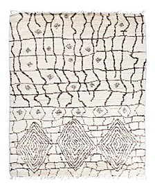 """CLOSEOUT! One of a Kind OOAK1867 Ivory 5'2"""" x 8'1"""" Area Rug"""