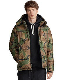 Men's Patterned El Cap Hooded Down Jacket