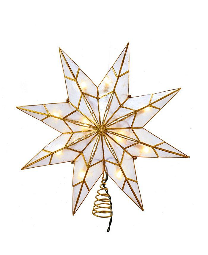 Kurt Adler - 10-Light 8-Point Gold Capiz Star Treetop