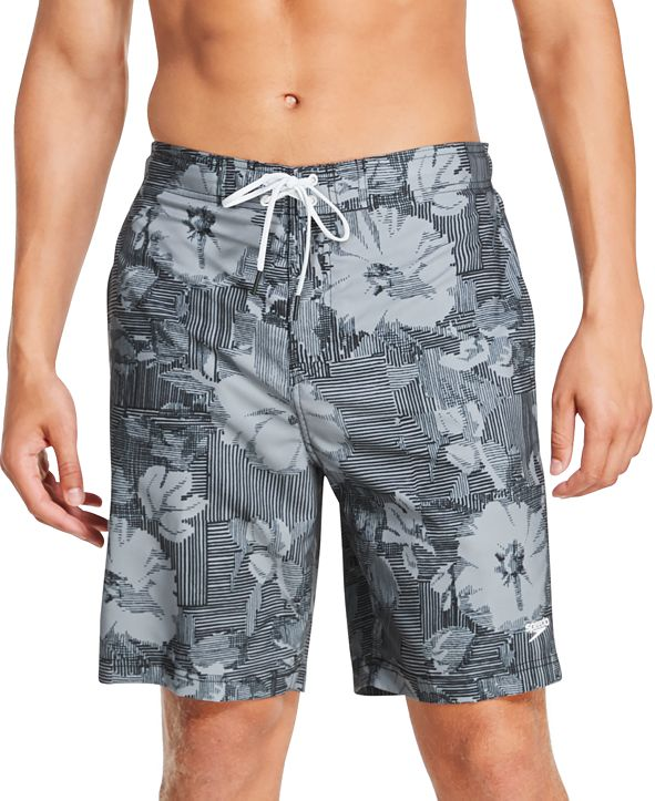 "Speedo Men's Bondi Ombré Gradient Floral 2-Way Stretch UPF 50+ 9"" Board Shorts"