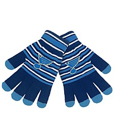 St. Louis Blues Acrylic Stripe Knit Glove
