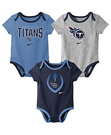 Baby Tennessee Titans Icon 3 Pack Bodysuit Set