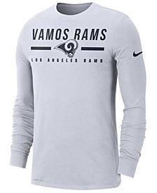 Men's Los Angeles Rams Local Pack Sideline Long Sleeve T-Shirt