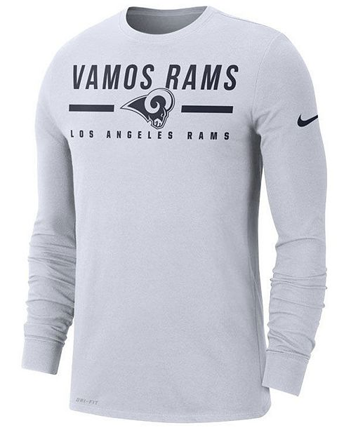 Nike Men's Los Angeles Rams Local Pack Sideline Long Sleeve T-Shirt