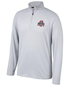 Men's Ohio State Buckeyes Lowry Microstripe Quarter-Zip Pullover