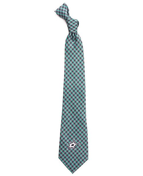 Eagles Wings Dallas Stars Poly Gingham Tie