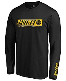 Men's Boston Bruins Chase Down Long Sleeve T-Shirt