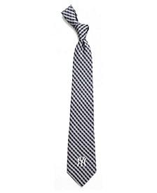 New York Yankees Poly Gingham Tie
