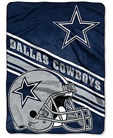 Dallas Cowboys Raschel Throw Slant Blanket