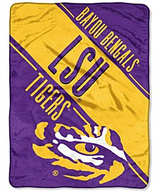 Northwest Company LSU Tigers Micro Raschel Section Blanket