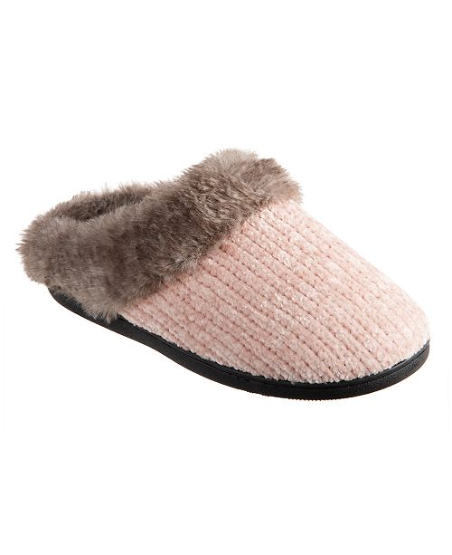 Isotoner Signature Isotoner Chenille Quinn Hoodback Slippers, Online Only