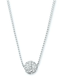 "Crystal Fireball 16"" Pendant Necklace"