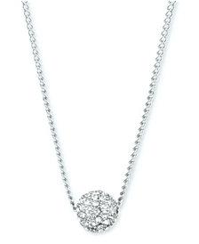 "Givenchy Crystal Fireball 16"" Pendant Necklace"