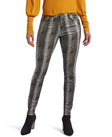 Women's Ultra Soft Snake-Embossed Denim Leggings