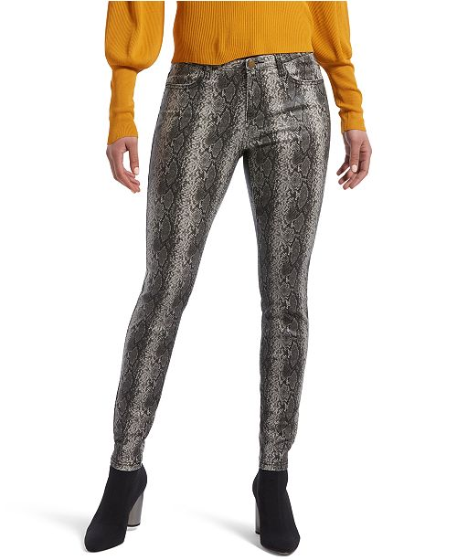 Hue Women's Ultra Soft Snake-Embossed Denim Leggings