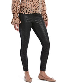 Women's Lace-Illusion-Front Leggings