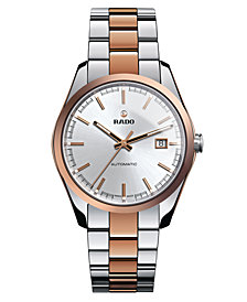 Rado Watch, Men's Swiss Automatic Hyperchrome Rose Gold-Tone Ceramos® and Stainless Steel Bracelet 40mm R32980102