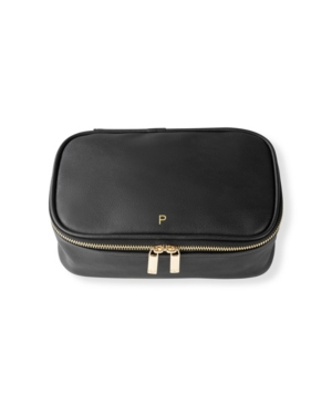 Personalized Large Vegan Leather Travel Jewelry Case