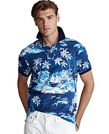 Men's Big & Tall Classic Fit Tropical Mesh Polo