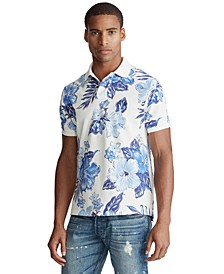Men's Custom Slim Fit Floral Polo Shirt