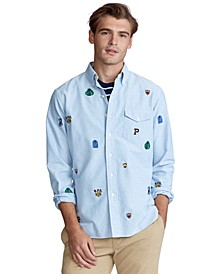Men's Classic Fit Embroidered Shirt
