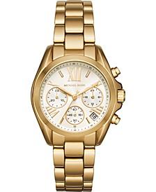 Women's Mini Bradshaw Gold-Tone Stainless Steel Bracelet Watch 36mm MK6267