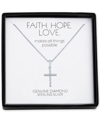 Sterling Silver Anchor Cross Pendant Necklace 1 1//8 inch high sold With or Without Chain 18-30 inch