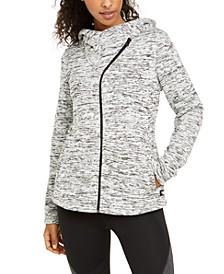 Asymmetrical-Zip Hooded Jacket