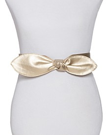 INC Wide Bow Stretch Belt, Created for Macy's