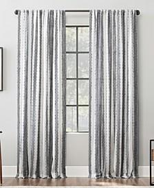 "Textured Stripe 52"" x 96"" Cotton Curtain Panel"