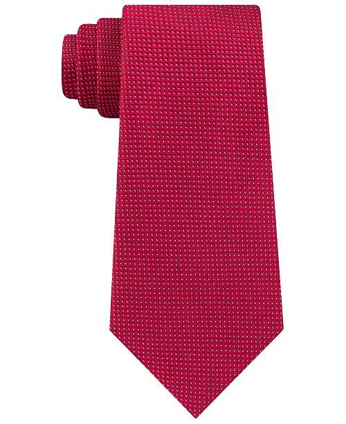 Calvin Klein Men's Slim Diamond Pindot Silk Tie
