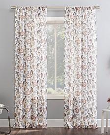 "Sarita Floral Print 51"" x 63"" Sheer Curtain Panel"
