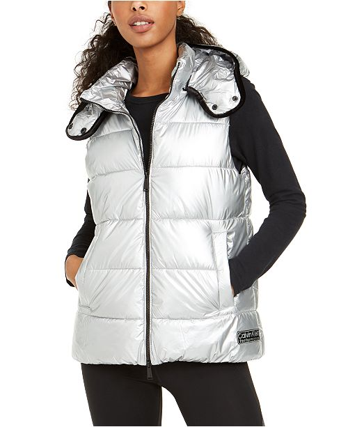 Calvin Klein Quilted Removable-Hood Vest