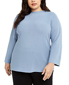 Plus Size Funnel-Neck Sweater