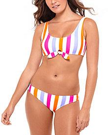 Salt + Cove Juniors' Tie-Front Bikini Top & Bottoms, Created for Macy's