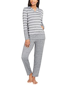 Women's Supersoft Hoodie & Pant Pajama Collection, Created for Macy's
