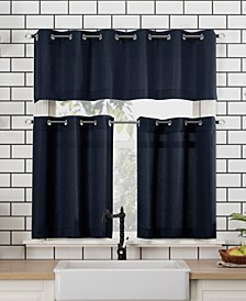 "Dylan 54"" x 36"" Textured Valance and Tiers Set"