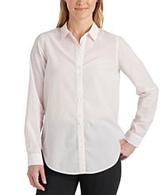 Classic-Stripe Button-Up Shirt